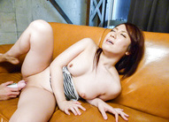 Sakura Ooba Asian with racy cans is fucked with vibrator in crack