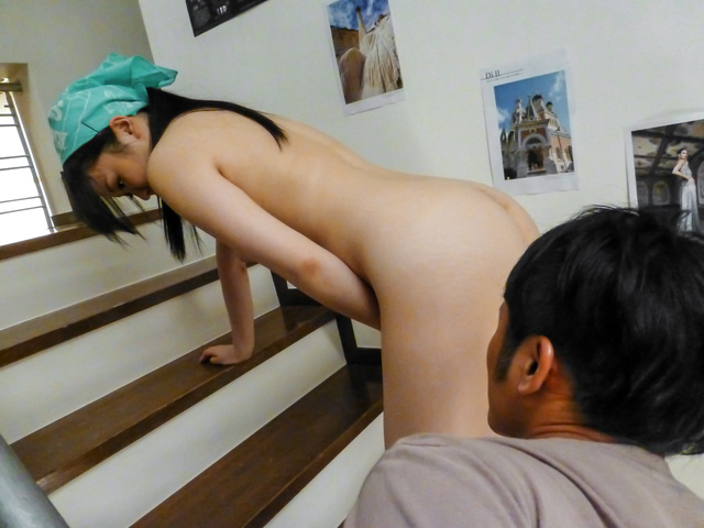 Yuka Wakatsuki - Teen cutie Yuka Wakatsuki gives an asian blowjob to two guys - Picture 9