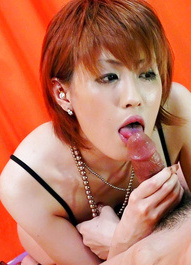 Kaoru Amamiya Asian licks, strokes and takes tool between boobs