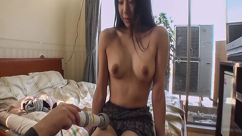 A creamed pussy for Miho Wakabayashi after a japanese blowjob