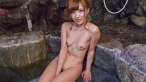 Hairy Anna Anjo plays with her pussy and tits