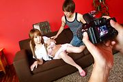 Sana Anzyu - Cocks in Sana Anzyu's pussy after two asian blowjobs - Picture 1
