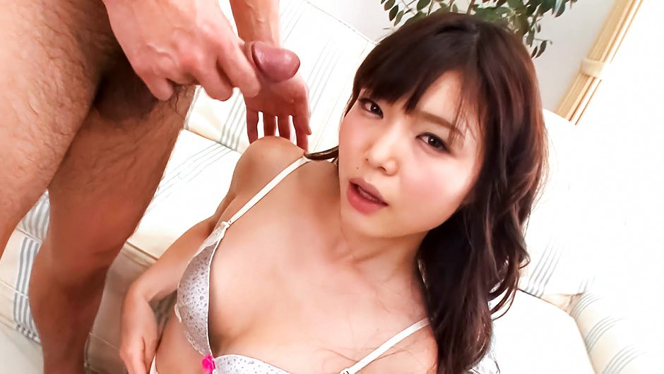 Two cocks for Megumi Shino's mouth for a japan blow job