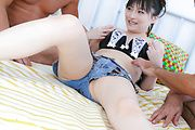 Rika Sonohara - Two wankers and one pussy mean crazy fun for Rika Sonohara - Picture 6