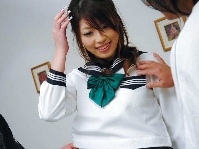 Arisa Aoyama - 热的阿里沙青山有毛缝好性交 - 图片 1
