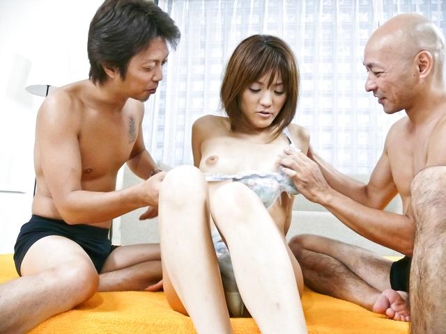Nagisa Aiba - Best threesome with Nagisa Aiba stuffed full of cocks and toys - Picture 2