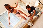 Yuuno Hoshi - Naughty and hairy Asian bimbo plugged with dildo and sex toy - Picture 3