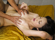 Sara Yurikawa has fine cans squeezed while is screwed in dark sex
