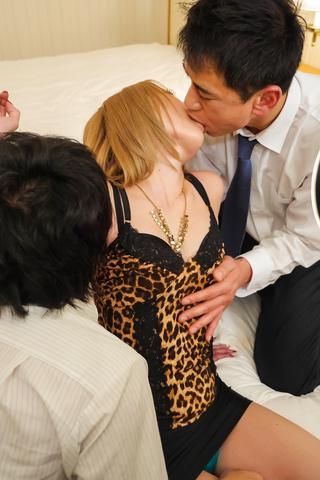 Rui Hayakawa - Hot Japanese wife enjoys two massive cocks - Picture 3