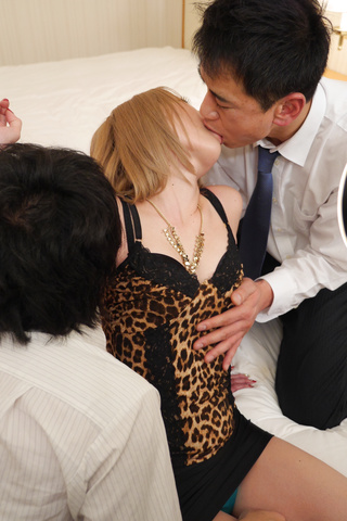 Rui Hayakawa - Hot Japanese wife enjoys two massive cocks - Picture 4