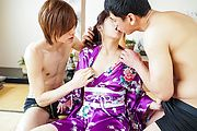 Saki Fujii - Saki Fujii in rough Asian threesome porn show  - Picture 3
