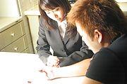 Haruka Aoi - Haruka Aoi has naughty idea and gets threesome sex in reward - Picture 1