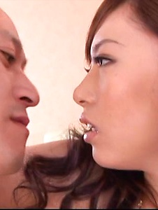 Keito Miyazawa - Keito Miyazawa in fishnets inspires a double creampie - Screenshot 2