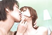 Rika Kurachi - Petite Rika Kurachi gets Double Teamed and Creampied - Picture 4