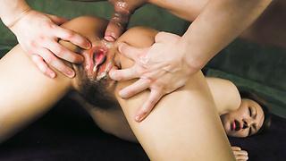 Lovely Japanese babe Rei craving from some Japanese boner