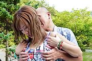 Aika - Aika seducing and giving her pink pussy a nice rub - Picture 4