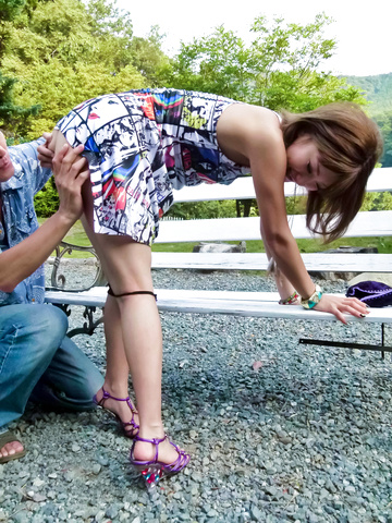Aika - 夏のリゾート地でS級美女を青姦! - Picture 8