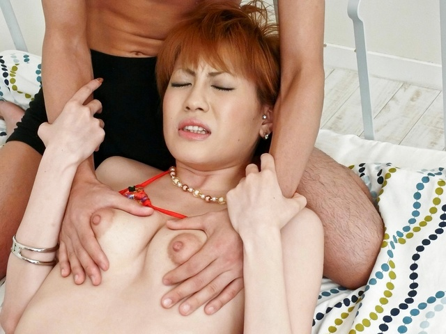 Kaoru Amamiya − Kaoru Amamiya in doggy fuck sucks shlong − Picture 7