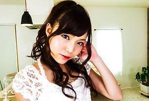 Megumi Shino with wet nooky sucks stiffy