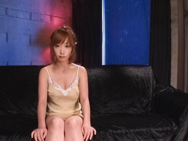 Sana Anzyu - 热亚洲 bukkake 性虽然 Sana Anzyu 手淫 - 图片 1