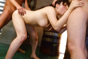 Azusa Nagasawa tag teamed in japanese creampie sex movies