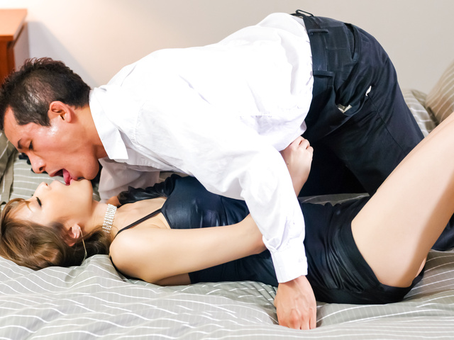 Yuria - Gorgeous and sexy Asian porn star Yuria humping and grinding on a hard cock - Picture 3