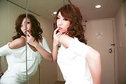 Aya Sakuraba - Gorgeous babe Aya gives a handjob and sloppy blowjob - Picture 9