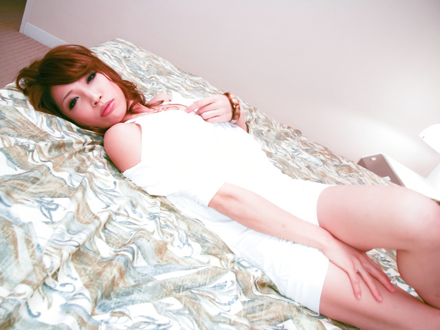 Aya Sakuraba - Lusty Japanese chick cock sucking and nailed hard in her quim - Picture 2