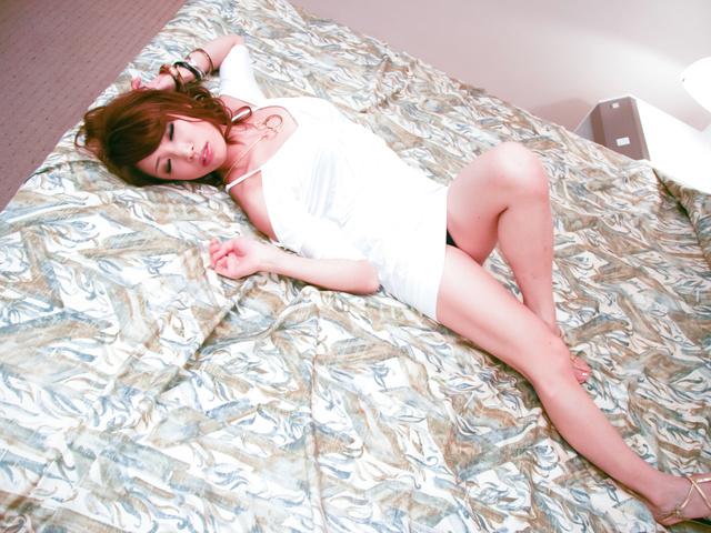 Aya Sakuraba - Lusty Japanese chick cock sucking and nailed hard in her quim - Picture 4